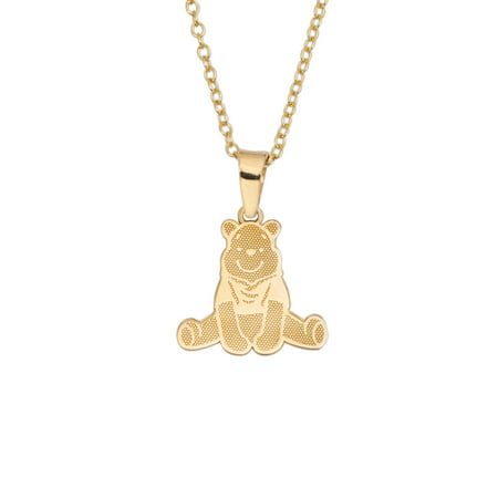 10kt Yellow Gold Winnie the Pooh Disney Pendant Necklace, 18