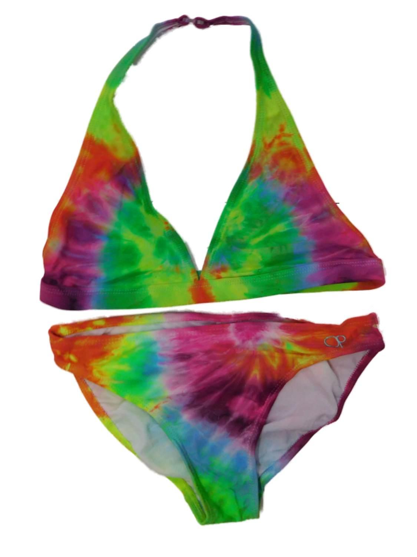 OP Girls 2 Piece Tie-Dye Bikini Swimming Swim Suit Halter Bathing Suit