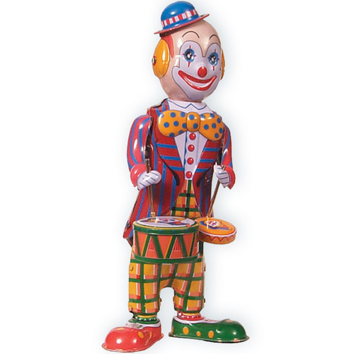 Alexander Taron Collectible Decorative Tin Toy Clown with Drums