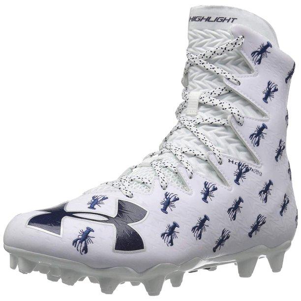 Under Armour Men S Ua Highlight Mc Le Football Cleats White Blue Lobster Walmart Com Walmart Com