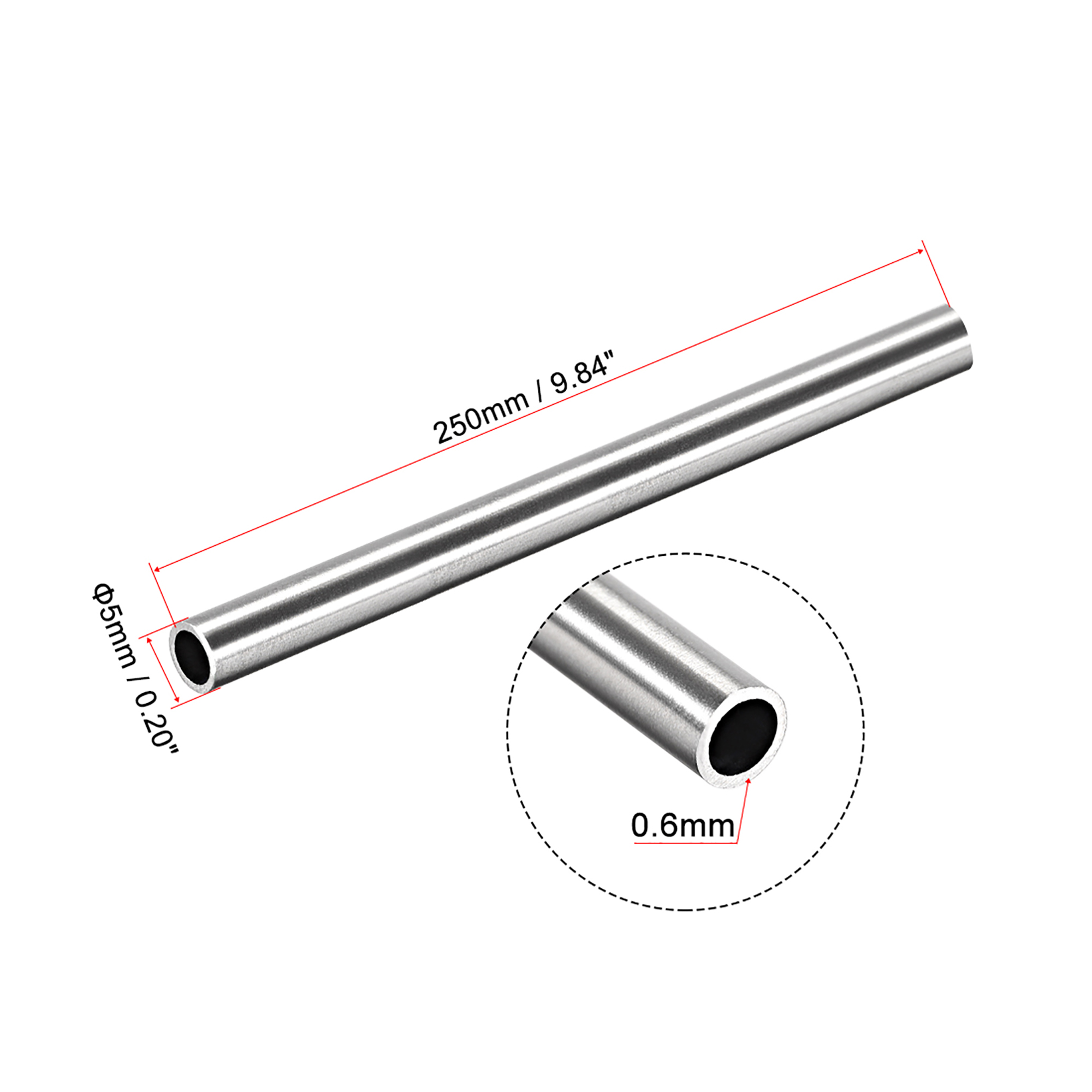 Exhaust Repair Stainless Steel Tube 35mm 1.3 inches OD 250mm 10 inches Length
