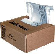 Fellowes Waste Bags for Small Office / Home Office Shredders, Clear, 100 / Carton (Quantity)