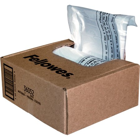Fellowes, FEL36052, Waste Bags for Small Office / Home Office Shredders,
