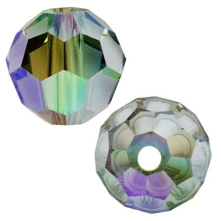 Swarovski Crystal, #5000 Round Beads 6mm, 10 Pieces, Crystal Paradise Shine Swarovski Tanzanite Round Beads