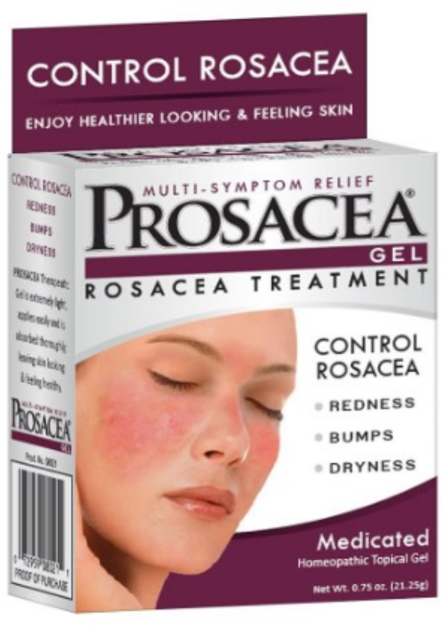PROSACEA Rosacea Treatment Homeopathic Topical Gel, .75 oz (Pack of 4) Sonic Skin Care Set 6 Piece Facial Cleansing Anti Skin Products With Case