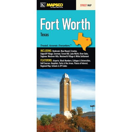Universal Map Fort Worth Fold Map
