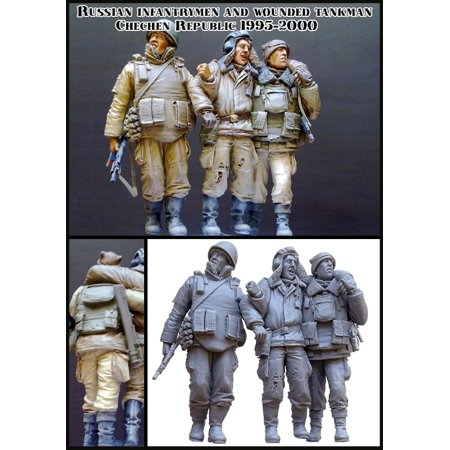 - Evolution Miniatures 1:35 Russian Infantry Men & Wounded Chechen #EM-35034