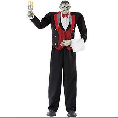 Halloween Animated Butler of Macabre Manor 6ft 11