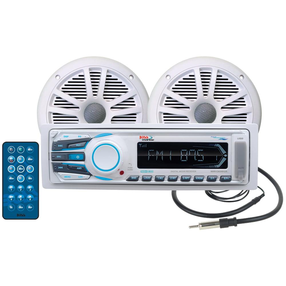 Boss MCK1306W.6 Marine Receiver Speaker Combo