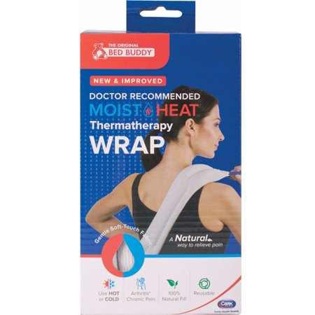 Carex Bed Buddy - Moist and Heat Thermatherapy Pack White, 1 Each Bed Buddy Moist Heat Back Wrap