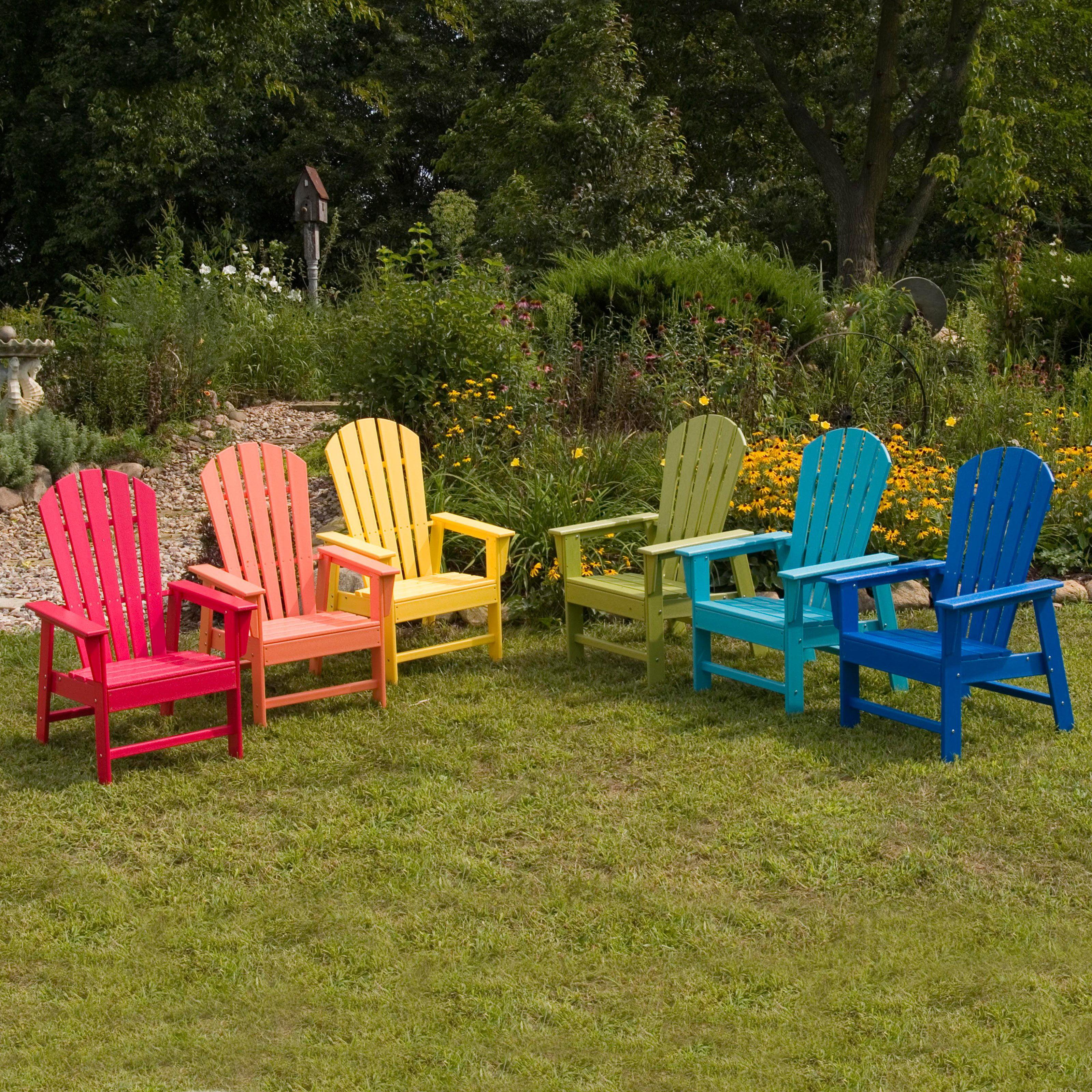 Plastic beach chair - Polywood Reg South Beach Recycled Plastic Adirondack Chair Walmart Com
