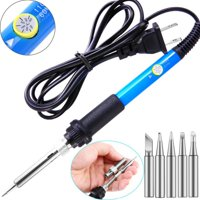 110V 60W Electric Iron Gun Adjustable Temperature Welding Soldering Iron Tool With 5pcs Iron Tips Tool Kit US Plug