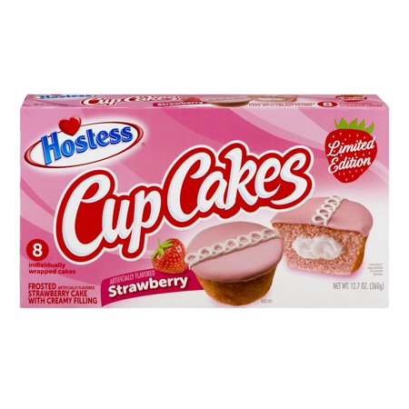 Hostess Strawberry Cupcakes, 12.7 oz Box (8 count)