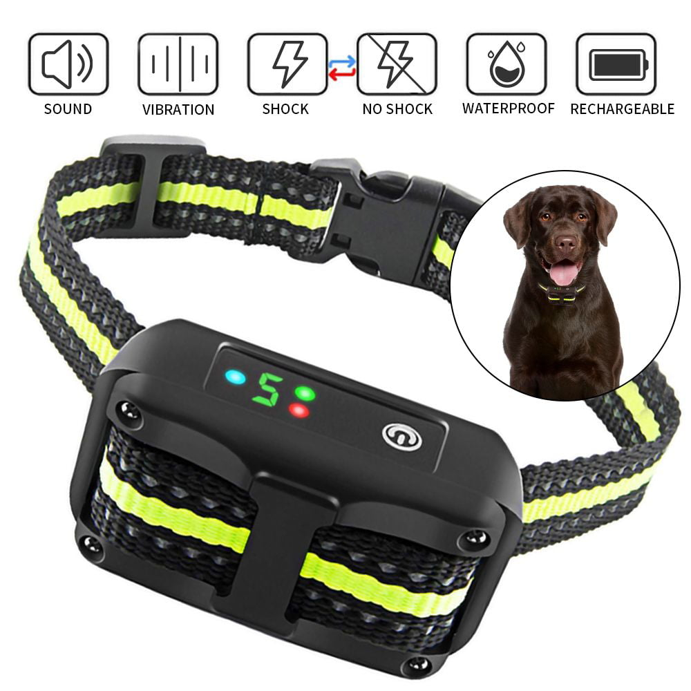 Automatic Anti Bark Collar Training Collars For Dogs Vinsic Dog Bark Collar For Small Medium Large Dogs Rechargeable Dog Shock Collar With Beep Vibration And Shock Walmart Com Walmart Com
