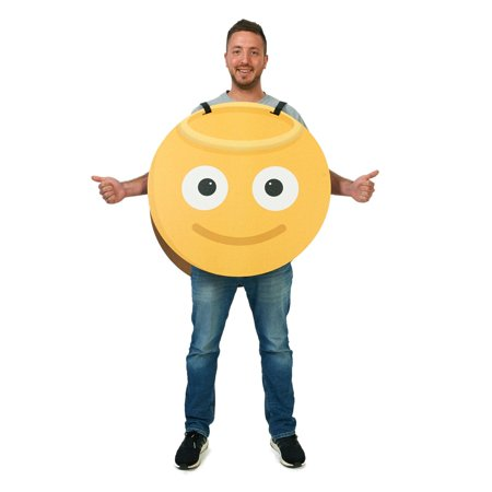 Angel/Devil 2-Sided Cardboard Emoji Costume](Angel And Devil Halloween Costumes For Adults)
