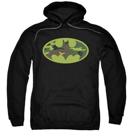 Batman Camo Logo Mens Pullover - Batman Hoodie With Ears
