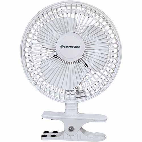 "Comfrot Zone Fan 6"" 3-Speed Clip/Desk Combo Fan"