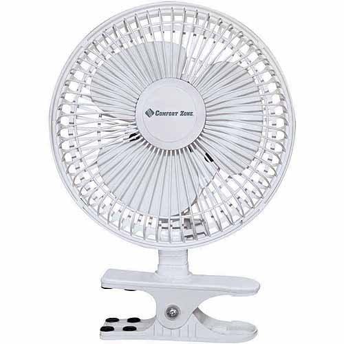 """Comfrot Zone Fan 6"""" 3-Speed Clip/Desk Combo Fan"""