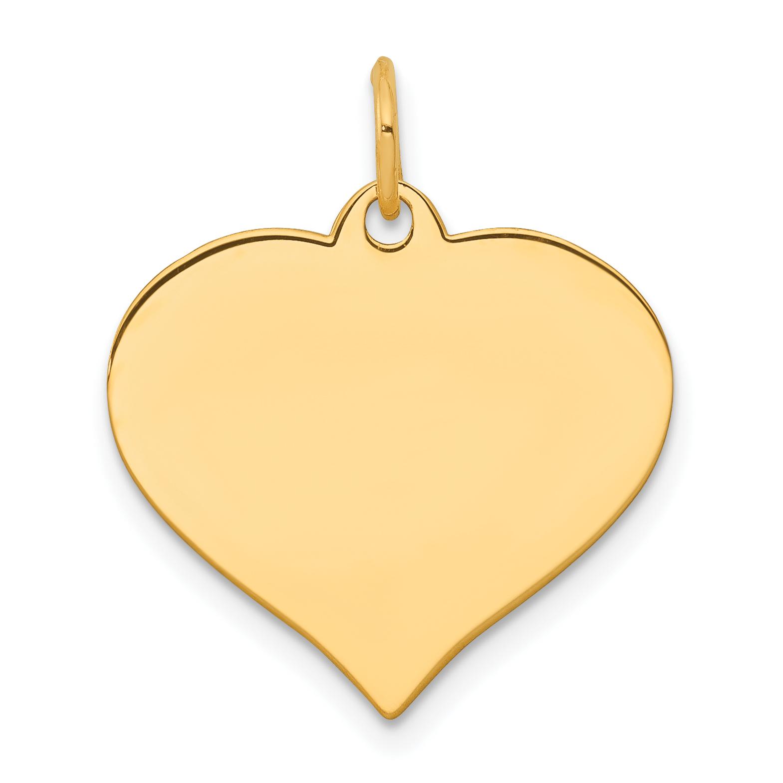 14K Rose Gold Heart Disc Charm - image 2 de 3