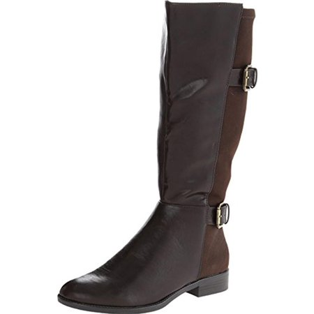 - LifeStride Womens Rockin Wide Shaft Faux Leather Riding Boots