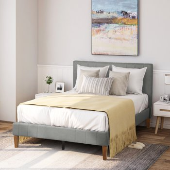 Harper & Bright Designs Upholstered Platform Bed (Queen)