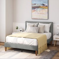Deals on Harper & Bright Designs Upholstered Platform Bed Queen