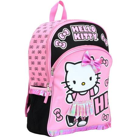 d6faa442ea HELLO KITTY - Hello Kitty 16   Pink and Black Kids Backpack - Walmart.com
