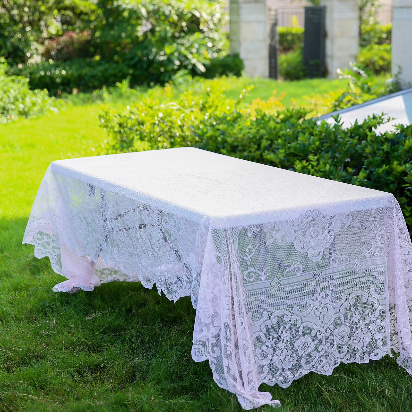 BalsaCircle 60 Inch X 126 Inch Rectangular Tablecloth With Floral Lace  Table Linens Wedding Events Party Dining Decorations   Walmart.com