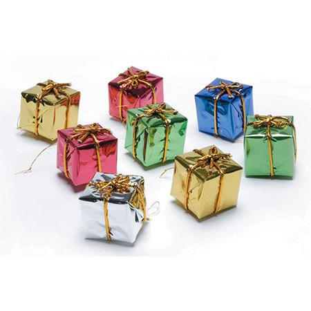 Foil Gift Boxes - Assorted Colors - 2 Inches - 8 Pieces