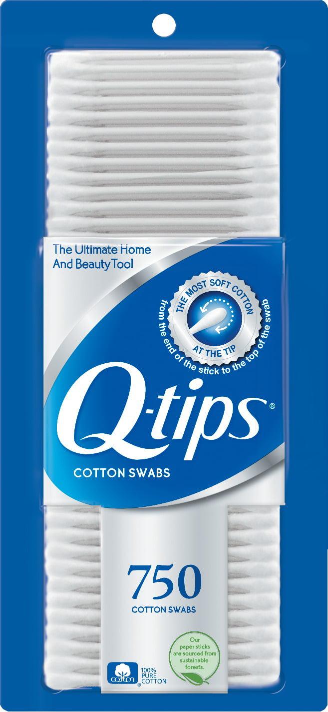 Q Tips Cotton Swabs 750 Ct