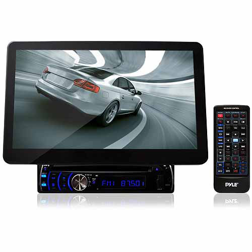 "Pyle Audio PLD10BT 10.1"" Motorized TFT/LCD Touchscreen Detachable Display DVD/VCD/CD/MP3/CD-R/USB/AM/FM/RDS Receiver"