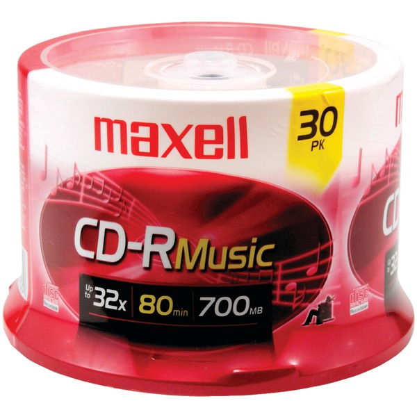 MAXELL 30PK SPINDLE AUDIO CDR
