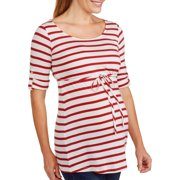 Maternity Belted Striped Tunic
