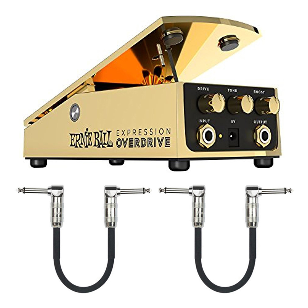 Ernie Ball 6183 Expression Series Overdrive Pedal Plus 2 Free Patch Cables by Ernie Ball