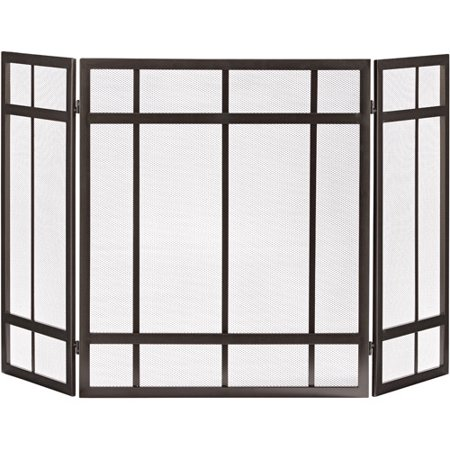 Pleasant Hearth 3-Panel Mission Style Fireplace Screen 3 Panel Mission Fireplace Screen