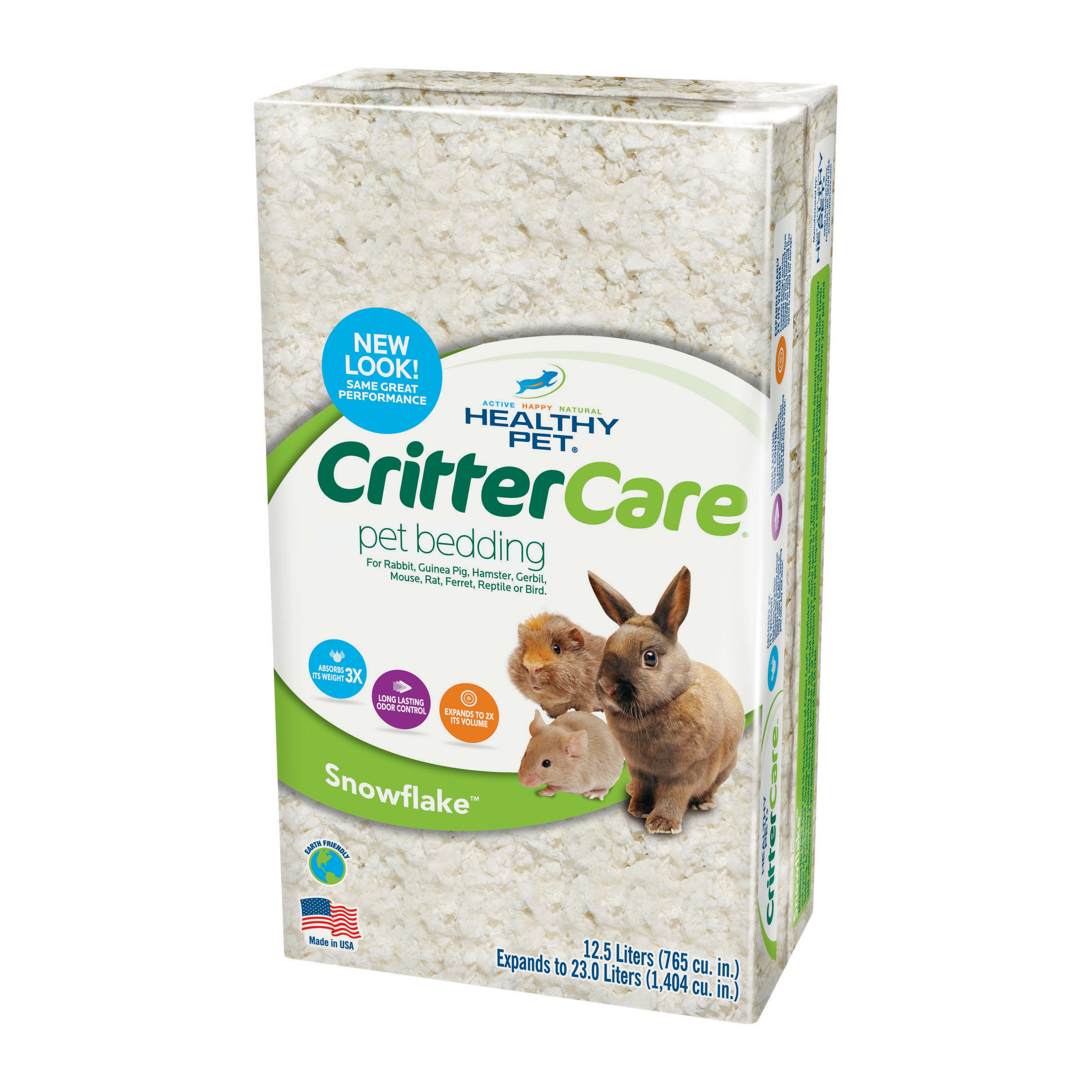Critter Care Snowflake Bedding for Small Animals, 23L