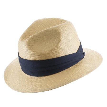 Ultrafino Monte Cristo Fedora Straw Panama Hat - Walmart.com 72d1b01b427