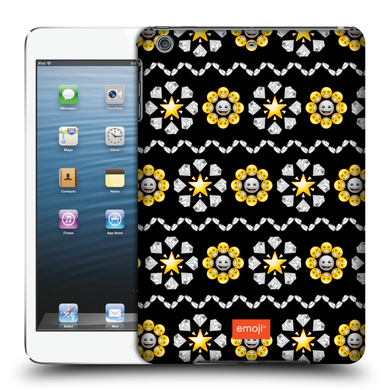 OFFICIAL EMOJI ASSORTED PRINTS HARD BACK CASE FOR APPLE IPAD
