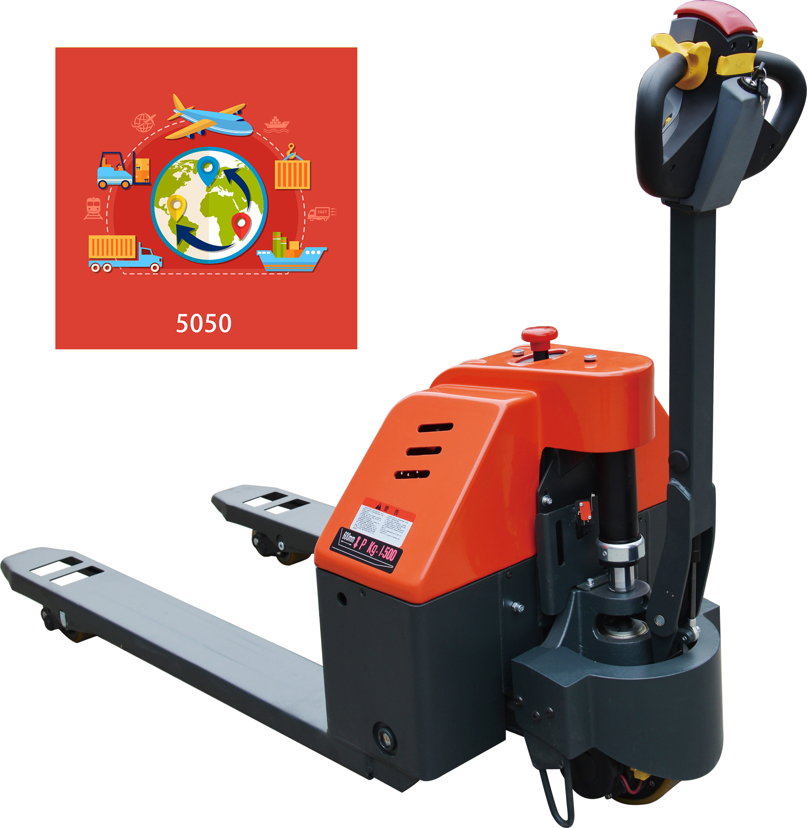Prime Scales MS-SL15 3300LB ELECTRIC POWERED WALKIE PALLET TRUCK