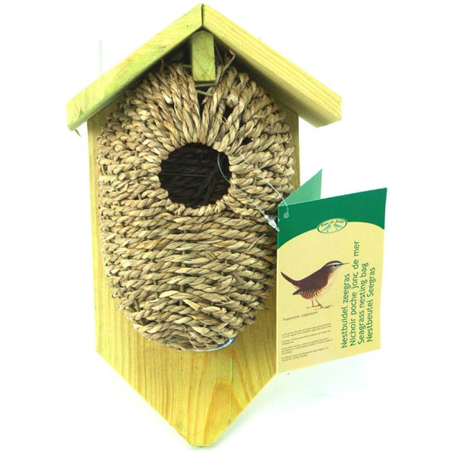 Best For Birds BFBNKBS Nest Pocket Sea Grass with Roof