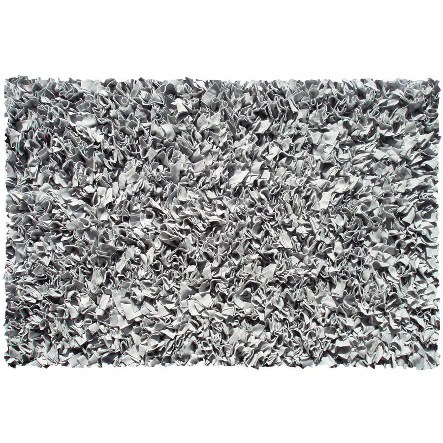The Rug Market Shaggy Raggy Silver Area Rug, Size 2.8' x 4.8' by The Rug Market