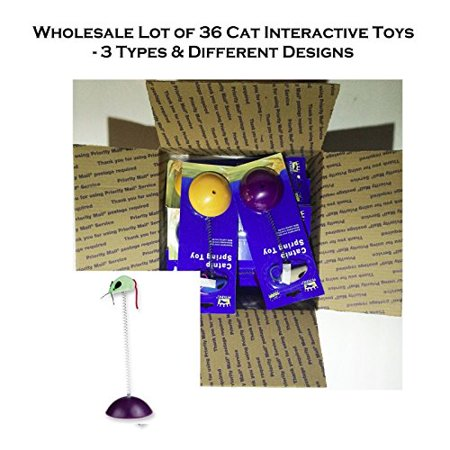Petking Wholesale Lot of 24 Catnip Interactive Spring - Toy Wholesale