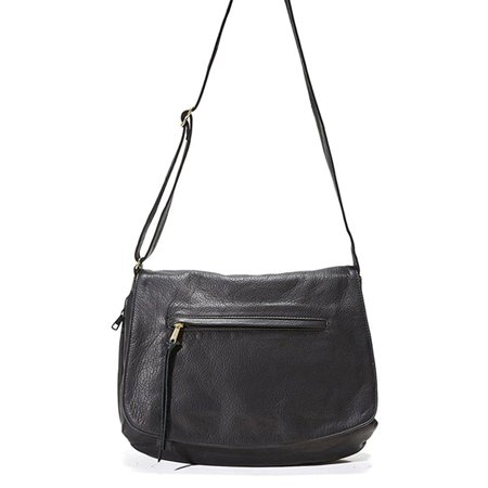 Concealed Carry Purse Monterey Flap Leather Bag By Coronado Black