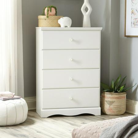 Sauder Storybook 4-Drawer Dresser, Soft White Double Dresser 4 Finishes