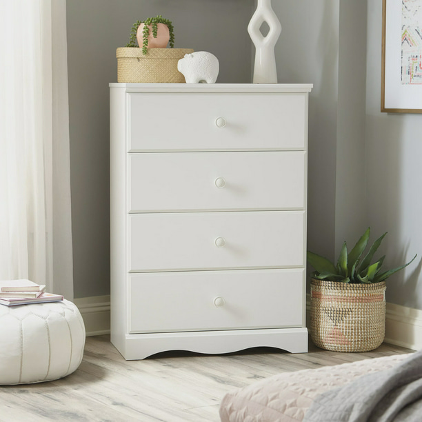 Sauder Storybook 4-Drawer Dresser, Soft White