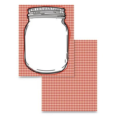 Wausau Papers 91279 Jar Mason Pre-Printed Paper, Red & White - Pack of 100 - image 1 of 1