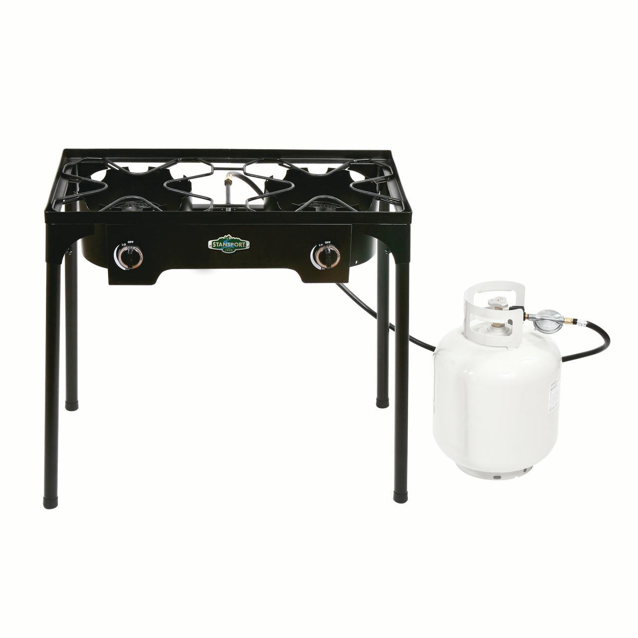 Stansport 2 Burner Cast Iron Stove with Stand - Walmart.com