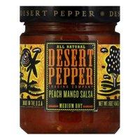 Desert Pepper Mango Peach Salsa - Medium Hot, 16 OZ (Pack of 6)