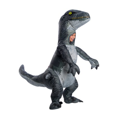 Jurassic World Velociraptor Child Inflatable Halloween Costume - Fat Kid Halloween Letter
