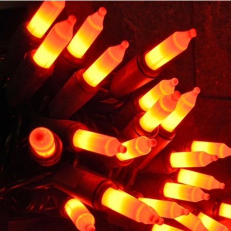 70 Orange & Black Lights Halloween String Light Set - Walmart.com